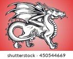big fantasy dragon black... | Shutterstock . vector #450544669