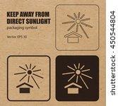 keep away from direct sunlight... | Shutterstock .eps vector #450544804