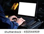 professional auto mechanic...   Shutterstock . vector #450544909