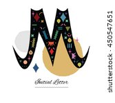 hand drawn capital letter m... | Shutterstock .eps vector #450547651