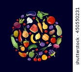 fruits and vegetables organic... | Shutterstock .eps vector #450550231