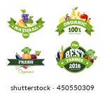 organic farming products vector ... | Shutterstock .eps vector #450550309