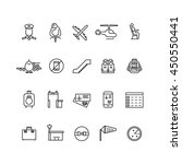 aviation outline vector icons... | Shutterstock .eps vector #450550441