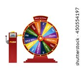 wheel of fortune design element.... | Shutterstock .eps vector #450554197