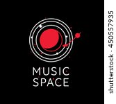 music space logo for dj in line ...