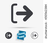 logout sign icon. sign out... | Shutterstock .eps vector #450562384