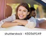 portrait of beautiful woman... | Shutterstock . vector #450569149