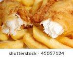Closeup Of A Piece Of Cod...
