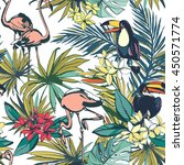 illustration tropical floral... | Shutterstock . vector #450571774
