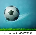 soccer ball flying in air with... | Shutterstock .eps vector #450572941