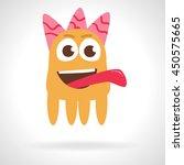 cute monster. cartoon...   Shutterstock .eps vector #450575665