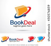 book deal logo template design... | Shutterstock .eps vector #450576859
