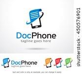 doc phone logo template design... | Shutterstock .eps vector #450576901
