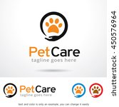 Stock vector pet care logo template design vector 450576964