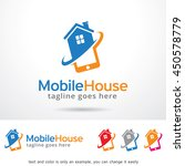 mobile house logo template... | Shutterstock .eps vector #450578779