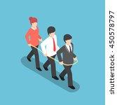 isometric business people... | Shutterstock .eps vector #450578797
