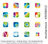 abstract colorful collection of ... | Shutterstock . vector #45058012