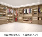 filled with wardrobe in a... | Shutterstock . vector #450581464