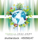 go green global nature safety... | Shutterstock . vector #45058147