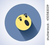 surprised face icon. flat round ... | Shutterstock .eps vector #450583039