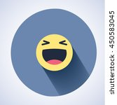 vector logo. smile face sign... | Shutterstock .eps vector #450583045