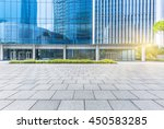 empty pavement front of office... | Shutterstock . vector #450583285