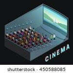 cinema movie theater indoor... | Shutterstock .eps vector #450588085