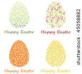 happy easter | Shutterstock .eps vector #45058882