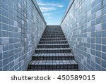 Tiled Stairs Toward Blue Sky