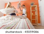 young couple facing each other  ... | Shutterstock . vector #45059086