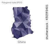ghana map in geometric... | Shutterstock .eps vector #450593401