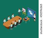 isometric presentation room...   Shutterstock .eps vector #450596365