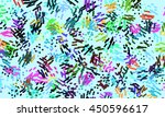 abstract digital art doodle... | Shutterstock . vector #450596617