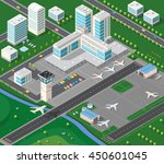 isometric 3d airstrip of the... | Shutterstock .eps vector #450601045