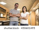 portrait of cheerful adults... | Shutterstock . vector #450601495