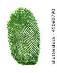 fingerprint of grass | Shutterstock . vector #45060790