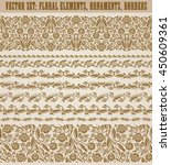 set of lace borders for design...   Shutterstock .eps vector #450609361