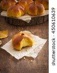 homemade pumpkin bread buns.... | Shutterstock . vector #450610639