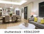 luxury living room beside a... | Shutterstock . vector #450612049