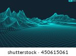 abstract vector wireframe... | Shutterstock .eps vector #450615061