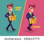 happy successful young business ... | Shutterstock .eps vector #450615775