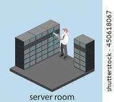 isometric interior of server... | Shutterstock .eps vector #450618067