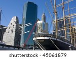 Old Ship In Nyc Port