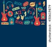 music doodle vector set | Shutterstock .eps vector #450619879