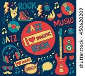 music doodle vector set | Shutterstock .eps vector #450620209