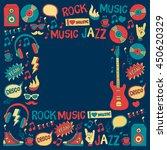 music doodle vector set | Shutterstock .eps vector #450620329