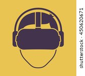 virtual reality glasses icon   Shutterstock .eps vector #450620671
