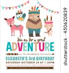 kids birthday invitation card... | Shutterstock .eps vector #450620839