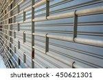 rolling steel shutter door... | Shutterstock . vector #450621301