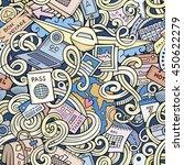 cartoon cute doodles hand drawn ... | Shutterstock .eps vector #450622279